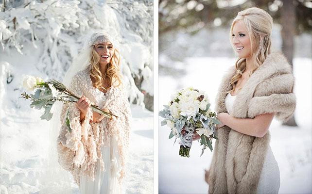 зима невеста платье 3456