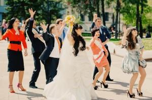 Видеосъемка свадьбы.Флеш моб.