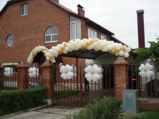 Как украсить двор и дом к свадьбе своими руками