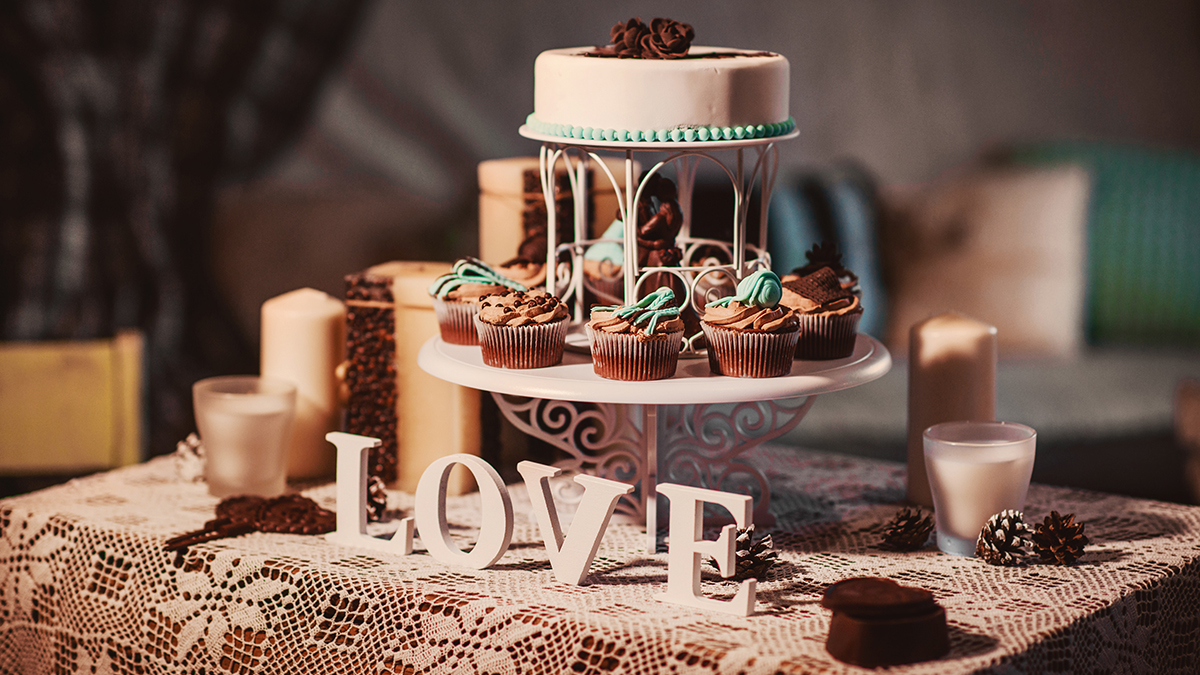 свадебный торт маленький 2468