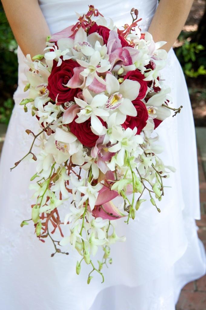 Длинный букет невесты 34567890-