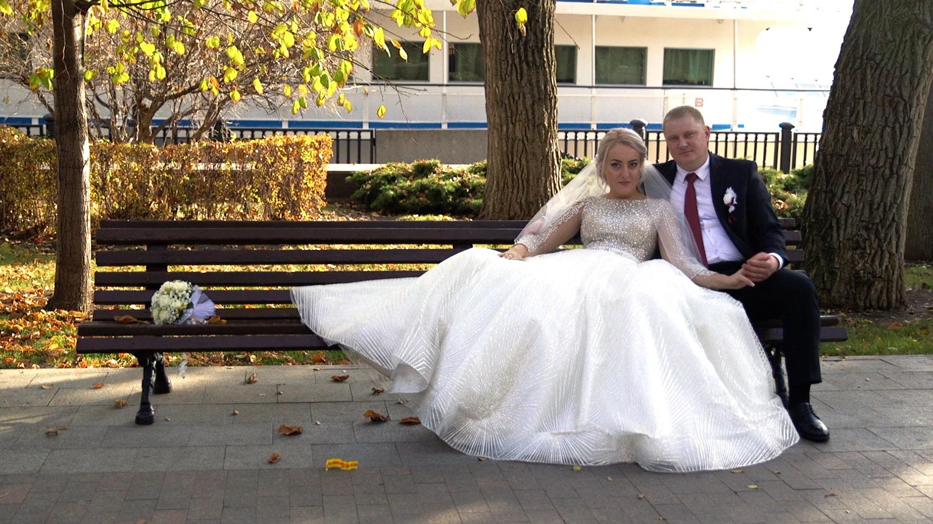 Видеосъемка свадьбы на прогулке34579-=